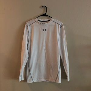 UA White Long Sleeve Compression Shirt